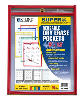 C-Line Products | Reusable Dry-Erase Pocket Set