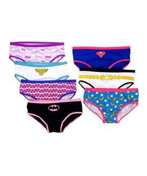 Pink & Blue Superhero Underwear Set – Girls