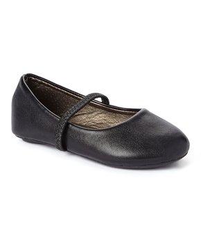 Ositos Shoes | Black Strap Ballet Flat - Girls