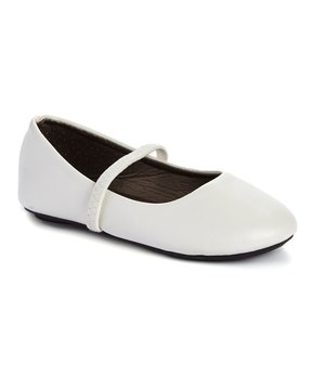 Ositos Shoes | White Strap Ballet Flat - Girls