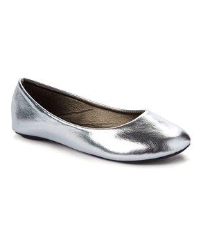 Ositos Shoes | Silver Ballet Flat - Girls