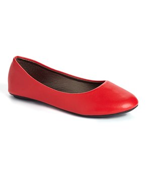 Ositos Shoes | Red Ballet Flat - Girls