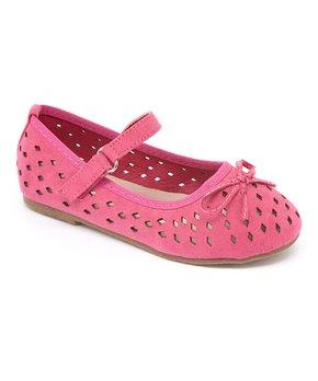 Dotty Shoes | Pink Daphne Cutout Mary Jane - Girls