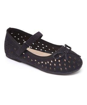 Dotty Shoes | Black Daphne Cutout Mary Jane - Girls