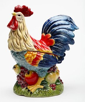 Home Essentials and Beyond | Red Scroll Rooster Figurine