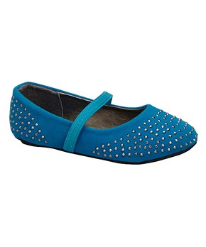 Ositos Shoes | Purple Studded Strap Flat - Girls