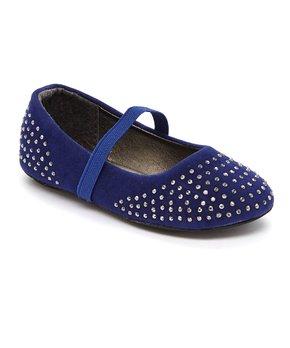 Ositos Shoes | Turquoise Stud Elastic-Strap Flat - Girls