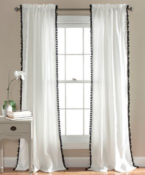 Duck River Textile | Chocolate Herringbone Curtain Panel - Set of Two