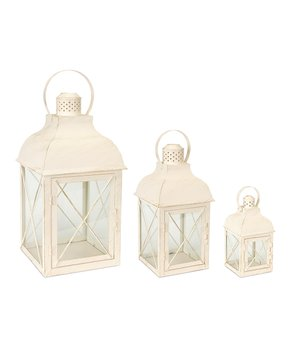 Melrose | White Cross Lantern Set