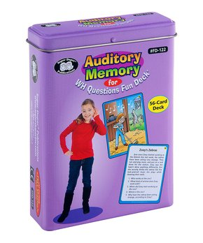 Super Duper Publications | Auditory Memory for WH Questions Fun Deck