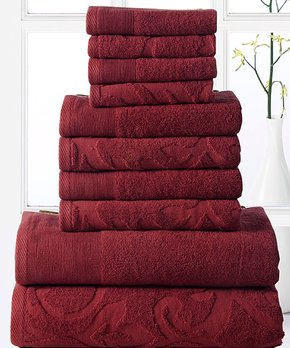 Affinity Home | Brown Plush Bath Rug - Set of Six