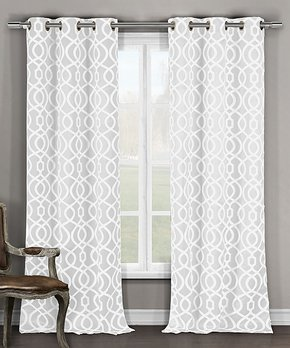 Duck River Textile | White Harris Room Darkening Curtain Panel - Set of Two