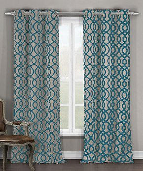Lush Décor | 84'' White Reyna Window Curtain Panel - Set of Two