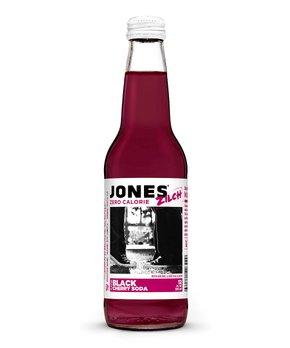 Jones Soda | Jones Zilch Sugar-Free Black Cherry Soda - Set of 12