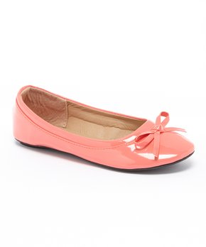 Ositos Shoes | Coral Patent Bow Flat - Girls