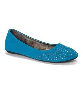 Ositos Shoes | Blue Stud Ballet Flat - Girls