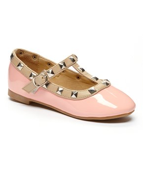 Ositos Shoes | Fuchsia Stud Flat - Girls