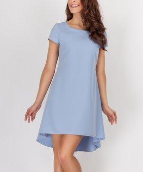 f290d9b8fb4a6e all gone. Blue Pleated Trapezium Dress