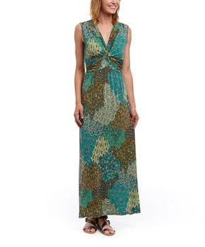 765aa3a7043 green peacock surplice maxi dress plus 5675 4447136.html