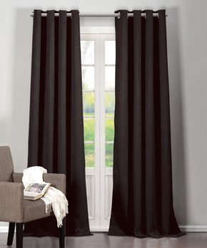 Duck River Textile | Chocolate Audrey Blackout Curtain Panel - Set of Two