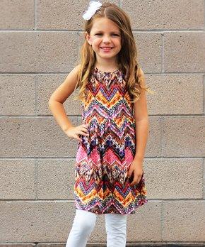 0c5a3c3891e0 all gone. Mayah Kay Fashion Boutique   Pink Geometric Dress - Toddler
