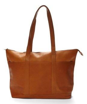 Le Donne | Tan Leather Tote