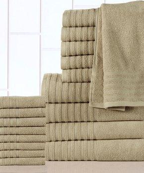 Affinity Linens | Taupe Casa Platino 18-Piece Towel Set