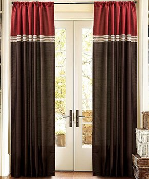 Lush Décor | Navy Rope Knot Room-Darkening Curtain Panel - Set of Two