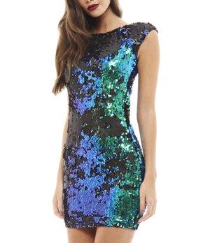 878a48ff17ce all gone. AX Paris | Blue Sequin Boatneck Bodycon Dress - Women