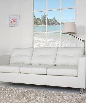 Baxton Studio   White Mid-Century Masterpiece Sofa