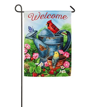Evergreen | Blue & Red 'Welcome Furry Friends' Outdoor Flag