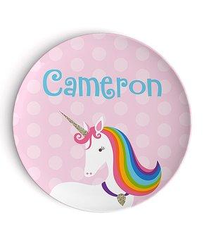 Lima Bean Kids | Rainbow Unicorn Personalized Plat...