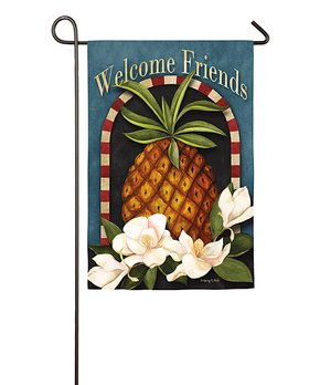 Evergreen | 'Welcome Friends' Pineapple Outdoor Flag