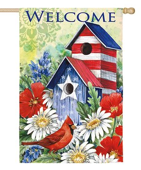 Evergreen | Daisy 'Welcome Friends' Outdoor Flag