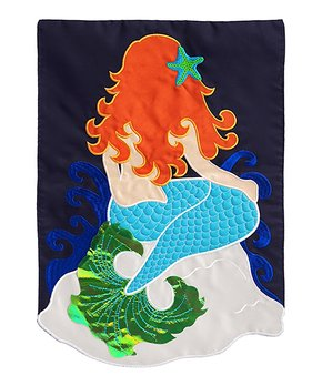 Evergreen | Small Mermaid Outdoor Flag