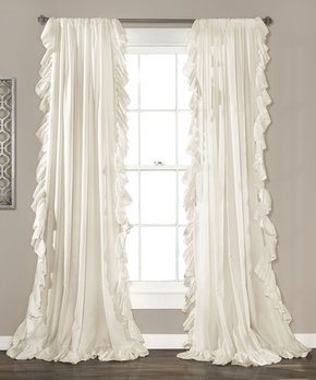 Lush Décor | Ivory Reyna Window Curtain Panel - Set of Two