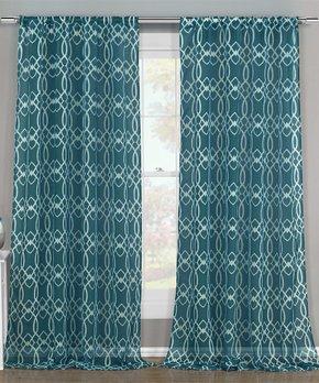 Duck River Textile | Blue Kingsville Three-Piece Curtain Panel Set