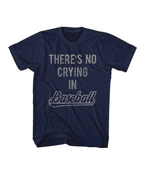 d94fba11f American Classics | Navy 'There's No Crying in Baseball' Tee - Men