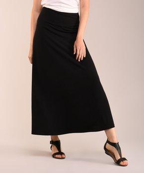 d447a6fd6a Lbisse | Black Maxi Skirt - Women & Plus