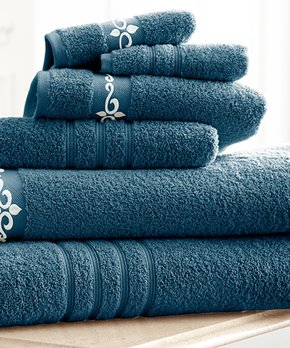 Amrapur Overseas | Marzipan Tan Chain Jacquard Six-Piece Towel Set