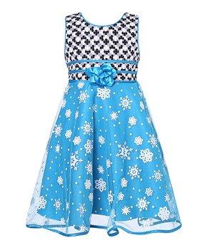 bc8449323 Richie House   Black & Blue Princess Dress - Toddler & Girls
