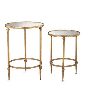 Elk Lighting   Antique Gold Alcazar Accent Table Set