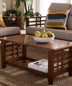Baxton Studio | Cherry Brown Larissa Coffee Table