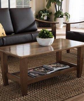 Baxton Studio   Walnut Brown Pierce Coffee Table