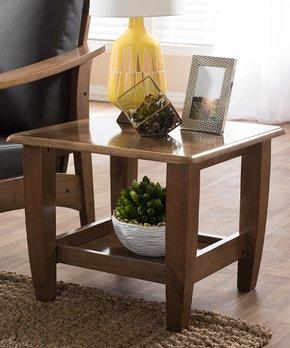 Baxton Studio   Walnut Brown Pierce End Table
