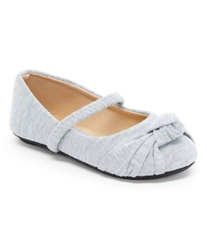 Ositos Shoes | Gray Strap  Knot-Detail Ballet Flat - Girls
