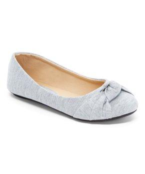 Ositos Shoes | Gray Knot-Detail Ballet Flat - Girls