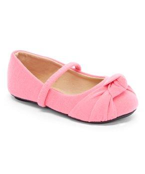 Ositos Shoes | Fuchsia Strap  Knot-Detail Ballet Flat - Girls