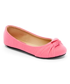 Ositos Shoes | Fuchsia Knot-Detail Ballet Flat - Girls