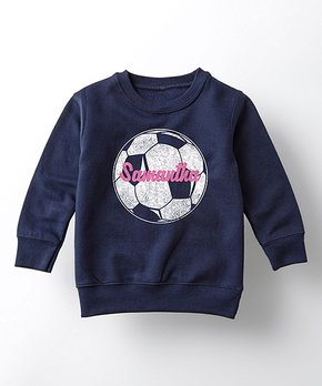 aba55272580 all gone. Navy Soccer Ball Personalized Sweatshirt - Toddler   Girls. all  gone. Volleyball Sublimated Knee-High Socks